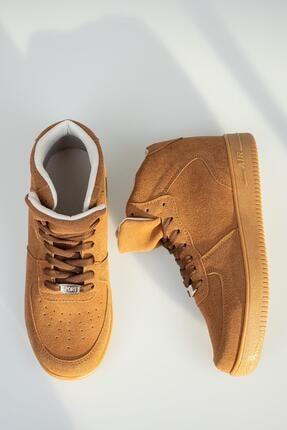 Muggo Unisex Kahverengi Süet Sneaker
