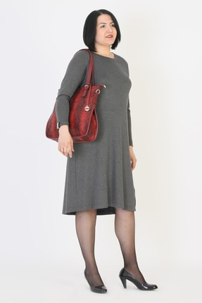 Günay Kadın Gri Elbise 94210