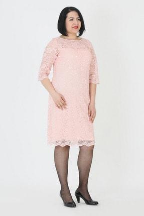 Günay Kadın Pembe Kısa Abiye Elbise Lm74140
