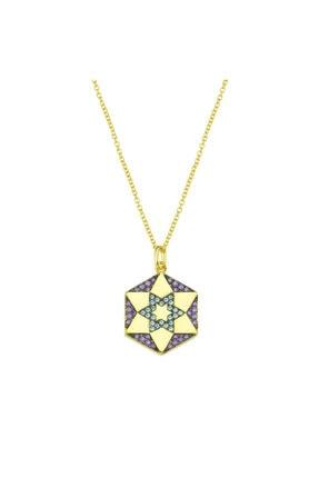 LUZDEMIA Chiron Star Necklace 925 - Purple