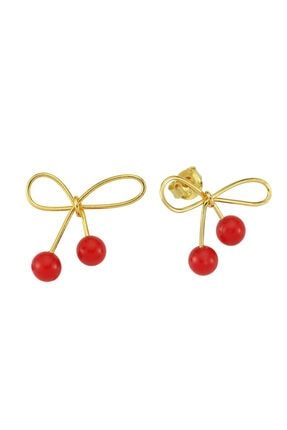 LUZDEMIA Red Cherry Earr. 925
