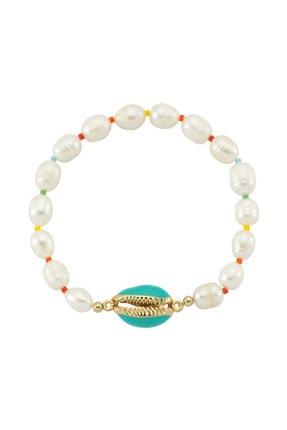 LUZDEMIA Sea Shell Pearl Bileklik - Mint