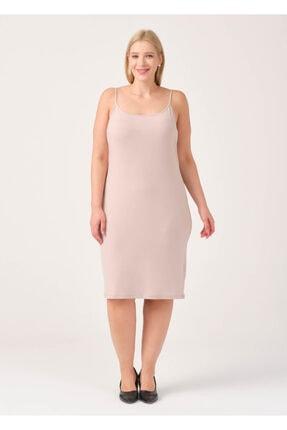 Cazador Kadın Bej İp Askılı Elbise
