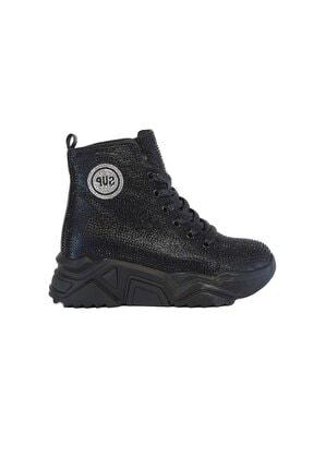 Guja 339-2 Siyah Taşlı Kadın Günlük Spor Ayakkabı Sneaker