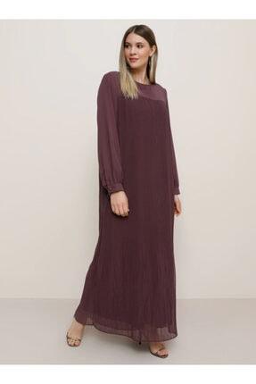 Alia Kadın Mor Pilise Detaylı Elbise 706698