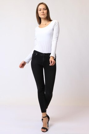 Twister Jeans Kadın Siyah Normal Bel Lıma Jeans 9154-03 03