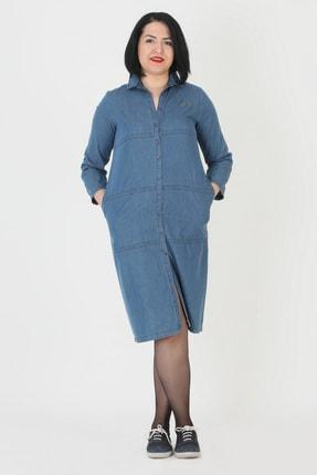 Günay Kadın Mavi Kot Elbise