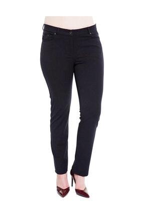 Günay Kadın Siyah Kumaş Yüksek Bel Düz Paça Pantolon Rg1009g
