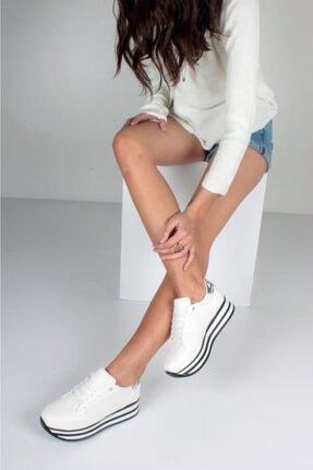 İnan Ayakkabı Kadın Beyaz Spor Ayakkabı F1010