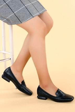 Ayakland Kadın Siyah Cilt Günlük Ayakkabı