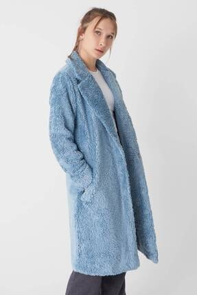 Addax Kadın Mavi Yumuşak Dokulu Mont M6760 - D6 -v3