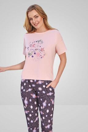 Berrak Kadın Pembe Pijama Takımı 586