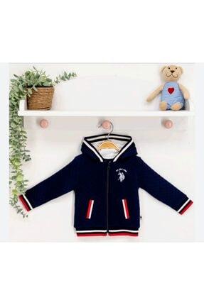 U.S Polo Assn. Unisex Bebek Lacivert Kapşonlu Hırka
