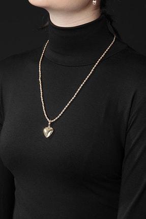 Polo55 Kadın Altın Renk Fotoğraf Konulabilen Kapaklı Tasarım Kal Figürlü Burgu Zincir Kolye Plkly0102r01