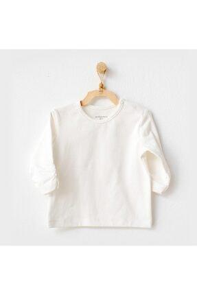 Andy Wawa Unisex Bebek Ekru Long Sleeve Meow Tshirt Ac21247