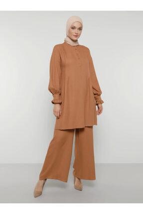 Refka Kadın Camel Geniş Paça Pantolon