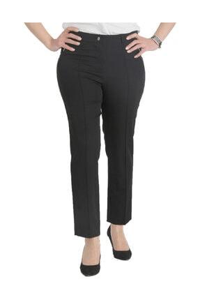 Günay Kadın Siyah Kumaş Normal Bel Düz Paça Pantolon Nvr2121