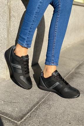 Dunlop Siyah Kadın İnce Taban Sneaker