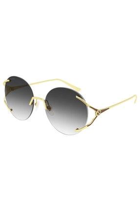 Gucci Kadın Altın Renk Güneş Gözlüğü Gg0645s 001