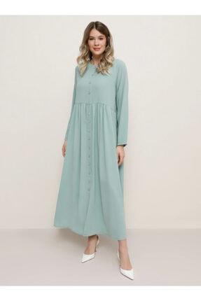 Alia Boydan Düğmeli Elbise - Mint -