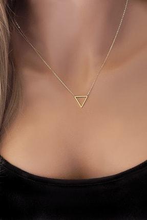 Allegro Gold Kadın 14 Ayar Altın Üçgen Kolye ALK0201