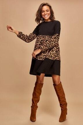Boutiquen 2186-blok Renk Elbise-10i
