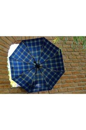 Della Pianto Unisex Lacivert Ekose Otomatik Şemsiye Otomatik Şemsiye Dlp08