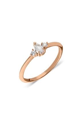 Pink Gold Store Princess Of Karya Damla Taşlı 14 Ayar Altın Yüzük