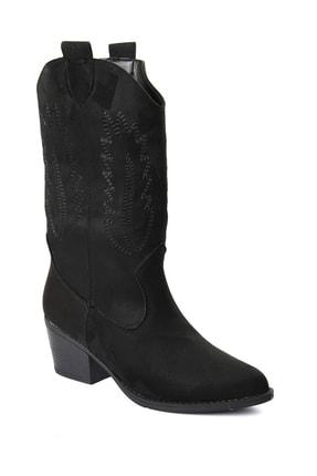 Sapin Kadın Siyah Western Kovboy Çizme 33611