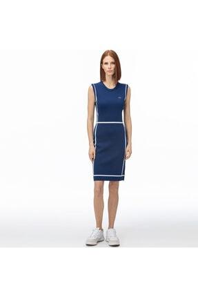 Lacoste Kadın Mavi V Yaka Kolsuz Elbise