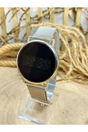Spectrum Unisex Gümüş Dokunmatik Hasır Kordon Mıknatıslı Kol Saati