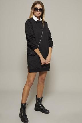 Cool & Sexy Kadın Siyah Sweat Elbise DY3121