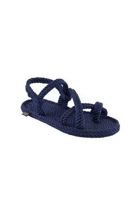 NOMADIC REPUBLIC Capri Kadın Halat & Ip Sandalet - Lacivert