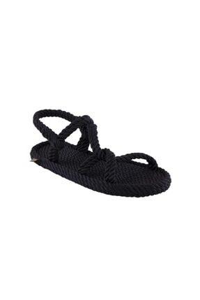 NOMADIC REPUBLIC Mykonos Kadın Halat & Ip Sandalet - Siyah