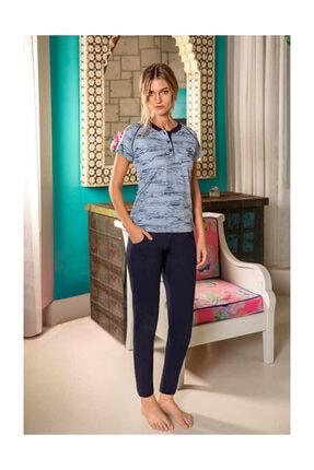 Berrak Kadın Pijama Takımı - Mavi 905