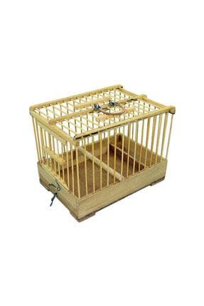 Ahşap Bambu Mini Taşıma Kafes 15x22x17 Cm Syl100262
