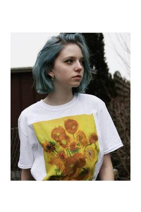 Köstebek Unisex Art - Vincent Van Gogh - Sunflowers T-shirt