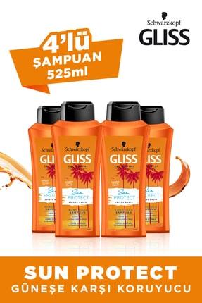 Gliss Sun Protect Şampuan 525 ml X 4 Adet