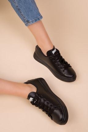 SOHO Siyah Mat Kadın Sneaker 14739