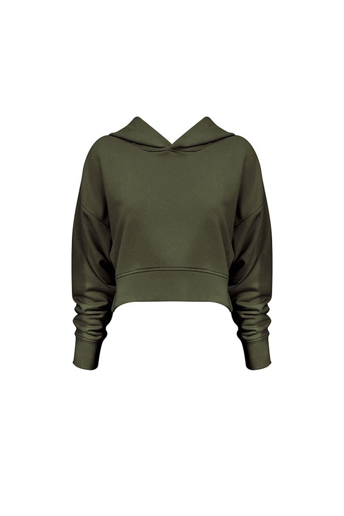 RİVUS Kapüşonlu Kısa Sweatshirt 7537