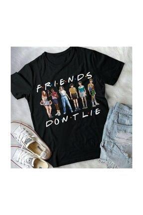 Köstebek Unisex Stranger Things Friends Don't Lie Pose T-shirt