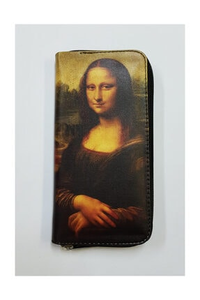 Köstebek Art - Leonardo Da Vinci-mona Lisa Portre Kadın Cüzdan