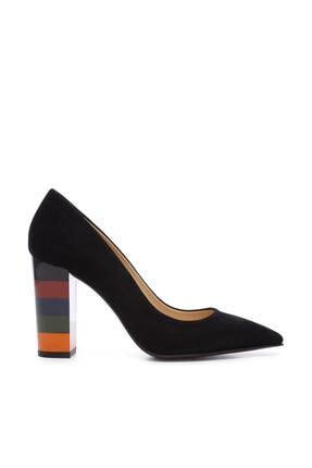 Kemal Tanca Siyah Kadın Vegan Kalın Topuklu Ayakkabı 22 2034 BN AYK