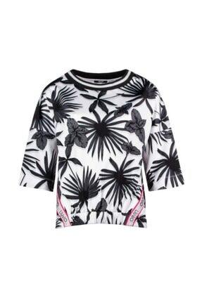 Liu Jo Kadın Siyah Beyaz T-shirt T19110-j5669