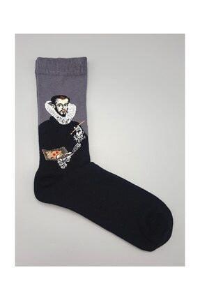 Köstebek Art - El Greco Unisex Çorap