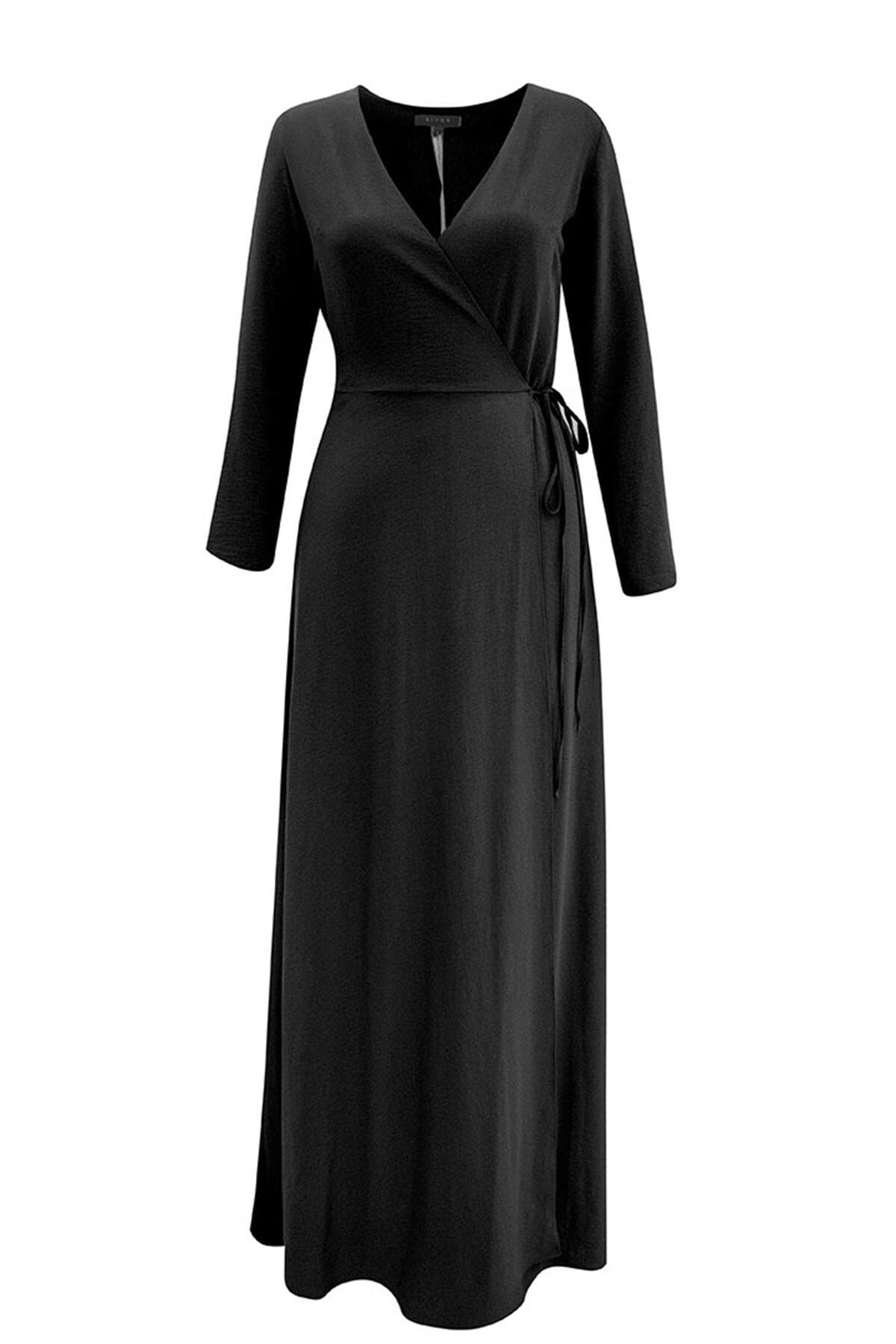 RİVUS Kadın Siyah Elbise 1300