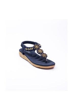Guja 150 - 7 Parmak Arası Kadın Sandalet Lacivert Lacivert-37