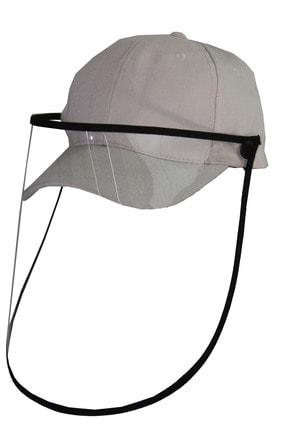 Bay Şapkaci Siperli Yüz Koruyucu Maske Şapka