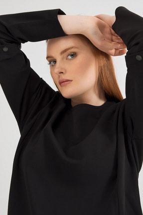 Love My Body Kolları Çıtçıtlı Sweatshirt