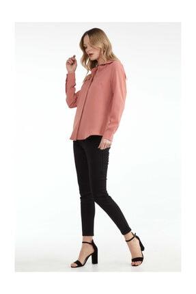 Sementa Kadın Klasik Gömlek - Pudra